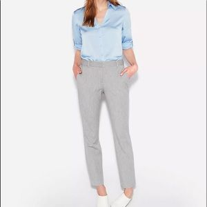 New express gray columnist ankle dress pants mid